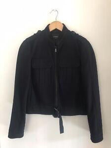 NEXT ladies military style jacket/coat, zip fastening,size 12,50% Wool, Vgc