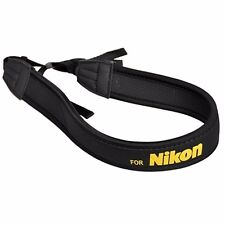 New Shoulder Neck Belt Wide Strap For Nikon Digital Camera DSLR Yellow LOGO