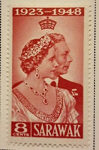 Sarawak Scott # 174-175 mint hinged 1948
