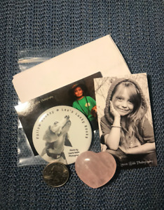 Rocksy Magnet Rose Quartz Stone Heart + Story Lex's Lucky Rocks A. Button Girl