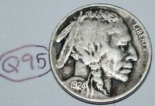 United States 1924 Buffalo Nickel USA 5 Cents Coin Lot #Q95