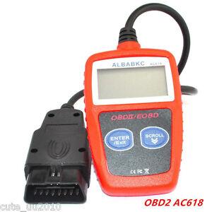 New Car AC618 OBDII EOBD Scanner Code Reader Data Tester Scan Diagnostic Tools