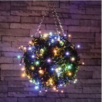 set 40 LED multi coloured fairy decorative lights Christmas XMAS OUTDOOR + TIMER