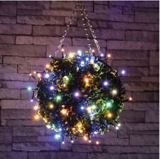 set 50 LED multi coloured fairy decorative lights Christmas XMAS OUTDOOR - TIMER