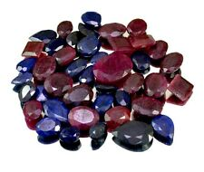 470ct / 43pcs Natural Ruby Sapphire Ring Size Gemstone Wholesale Lot