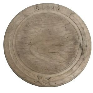 Antique Carved Wooden Bread Board