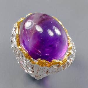 Women Jewelry Art Amethyst Ring Silver 925 Sterling  Size 6 /R164975