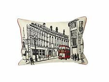 Urban Loft by Westex Embroidered London Feather Filled Cushion, 14 x 20 NEW