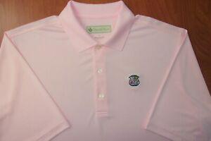 Donald Ross Wannamoisett Country Club Performance Pink Golf Polo Shirt L ~NEW~