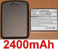 Coque Noir + Batterie 2400mAh type 35H00132-01M BB99100 Pour HTC PB99100