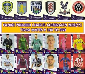 Panini Adrenalyn XL Premier League 2020/21 2021 - Team mates cards #190 to #369