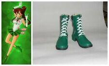 Sailormoon Sailor Moon Jupiter Lita Cosplay Costume Boots Boot Shoes Shoe UK