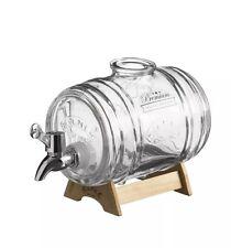 Original Cristal de Kilner 1L Dispensador De Licor Bebidas barril con soporte de madera