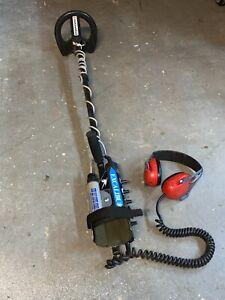 "Original ""Sword"" Minelab Excalibur Metal Detector w/ horseshoe coil and battery"