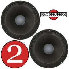 """2x B&C 12MH801 12"""" MidBass Pro Audio Replacement Speaker Woofer 8-Ohm PAIR"""