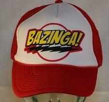 BAZINGA Snapback Cap, Licensed Sheldon Cooper Big Bang Theory Mesh Truckers Hat