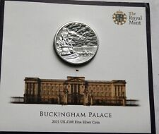 More details for one hundred pound £100 2015 buckingham palace .999 silver royal mint pack