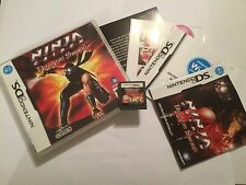 NINTENDO DS NDS DSL DSi DSxl GAME NINJA GAIDEN DRAGON SWORD +BOXED COMPLETE PAL
