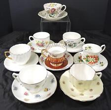 8 China Cups & Saucers - Royal Victoria * Crownford * Wedgwood * Royal Stafford