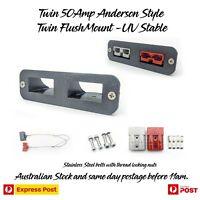 Anderson plug 50A DUAL -Twin V2 MOUNT TRAILER, CARAVAN, 4WD UV stable