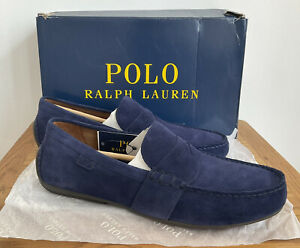 Ralph Lauren Polo Reynold Driver Navy Suede Mens Shoes Size 11