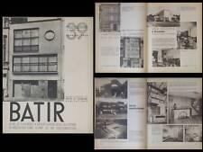 BATIR N°39 1936 VICTOR HORTA, KAPLANSKY, HENRI LEBORGNE, CARLOS MALFAIT, ANVERS