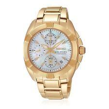 Relojes de pulsera Seiko de acero inoxidable dorado