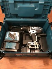 Makita DHP482 M1JW 18v White Combi Drill Box And Charger Used Once Spanking ✨