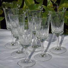Service de 6 verres à vin cuit en cristal taillé Haut. 14 cm