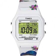 Orologio Donna Timex Digitale T80 T2N550 Bianco a Fantasia
