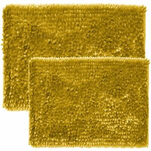 Sweet Home Collection Bath Set 2 Piece Butter Chenille Noodle Soft Luxurious Rug