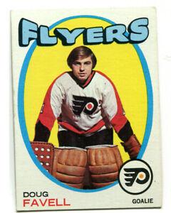 1971-72 Topps Doug Favell Card #72 Philadelphia Flyers