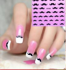 Black Moustache 3D Nail Art Stickers Decals Uk Seller