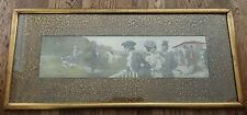 """VICTORIAN EQUESTRIAN HORSE ILLUSTRATION """"AT THE RACES"""" SIGNED """"CARLOS ALONSO""""!"""