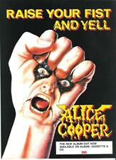 ALICE COOPER Raise Your Fist..MCA album  UK magazine ADVERT / mini Poster 11x8""