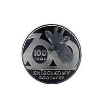 UCRANIA 2 hryven 2008 proof 100 Aniv. Zoo de Kiev
