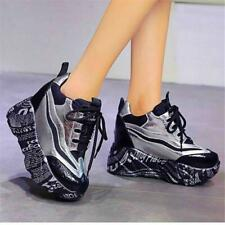 Womens Breathable Fashion Sneakers Platform Wedge Heel Athletic Trainer Shoes