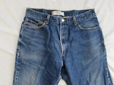 Levi 505 Straight Leg Regular Fit Faded Denim Jeans Tag 36x32 Measure 34x31