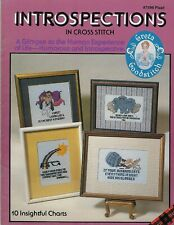 Introspections in Cross Stitch Humorous Sayings Patterns Charts VTG Craft Book