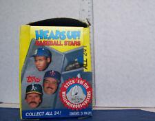 1990 TOPPS HEADS UP BASEBALL STARS BOX OF 24 PIN PACKS