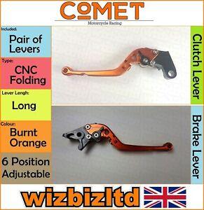 Yamaha YZF-R6 1999-2004 [Pliable Long Orange] [ Comet Réglable Course Levier]