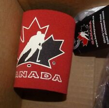 NEW Team Canada Ice Hockey Beer Soda Can Coozie Holder Neoprene Red NEW NWT
