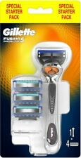 Gillette Fusion 5 Proglide Starter 4 Pack + Razor - Genuine UK
