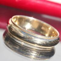 14k yellow gold wedding band ring size 9.25 vintage handmade 4.9gr  N2693C
