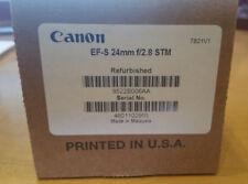 Canon EF-S 24mm f/2.8 STM Pancake Lens manufacturer refurbished SEALED in box