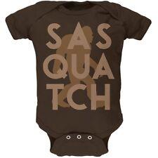 Sasquatch Brown Soft Newborn Infant One Piece Onesie