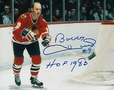 BOBBY HULL signed (CHICAGO BLACKHAWKS) Hockey 8X10 photo W/COA *GOLDEN JET* #3