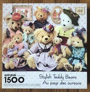 Springbok 1500 Piece Puzzle - Stylish Teddy Bears -  COMPLETE!