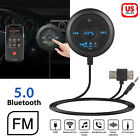 AUX-in Bluetooth Wireless Receiver & Transmitter Adapter FM For Car Stereo Audio