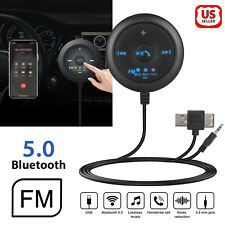 AUX-in Bluetooth Wireless Receiver Adapter FM Transmitter for Car Stereo Audio